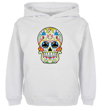 Unisex Sweatshirts For Boy Men Long sleeves Sugar Skull Roses Eyes Day of the Dead Print Autumn Winter Couple Hoodies