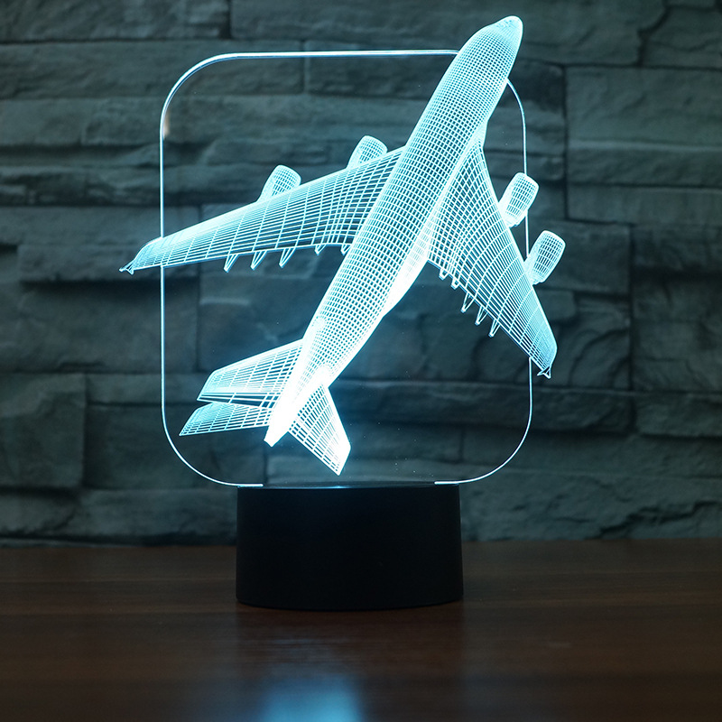 Manufacturer Customized Table Lamps For Living Room Novel Products Modern Compact Aircraft Atmosphere 3d Night Desk Lamp|LED Table Lamps| |  - title=