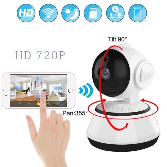 720 P WiFi Mini bébé moniteur sans fil PTZ IP caméra P2P Surveillance intérieure sécurité CCTV caméra maison vidéo moniteur Vision nocturne