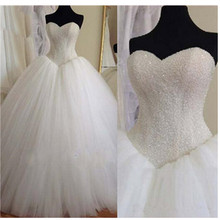 Bling Bling Modern Princess Ball Gown Real Image Wedding Dresses Multi Layer Tulle Bridal Gorgeous Custom Made US2-26W++ Sparkly