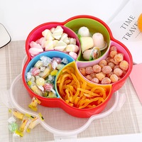 Multi funktion Snack Platten Candy Box mit Deckel Hause Große Kapazität Obst Mutter Lagerung Dessert Tray Snack Gericht Neue ankunft|Geschirr & Platten|Heim und Garten -