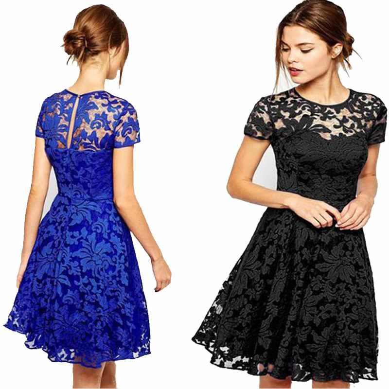 Detail Feedback Questions about Summer Women Floral Lace Dress Fashion  Short Sleeve O Neck Casual Mini Dresses on Aliexpress.com | alibaba group
