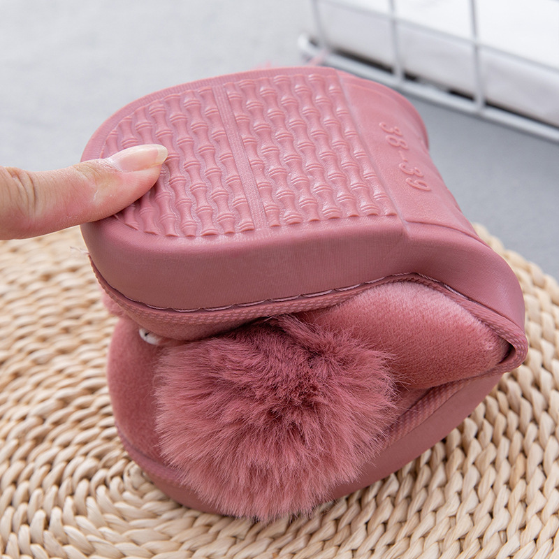 Women Winter Home Slippers Ladies Rabbit Animal Prints Fur Warm Slides Indoor Soft Casual Shoes for Women Sandals Plus Size 4
