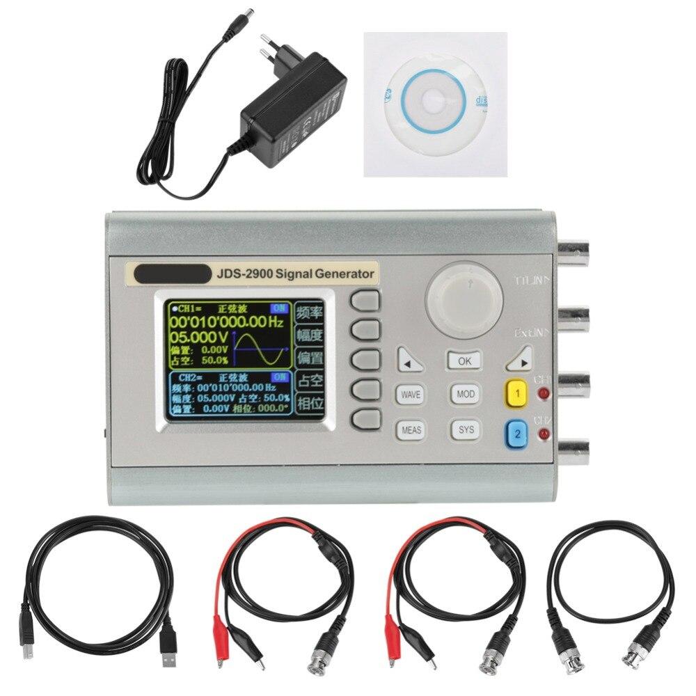 JDS2900 DDS générateur de Signal compteur contrôle numérique AC100-240V de fréquence sinusoïdale (prise EU 15 MHz) Source de Signal