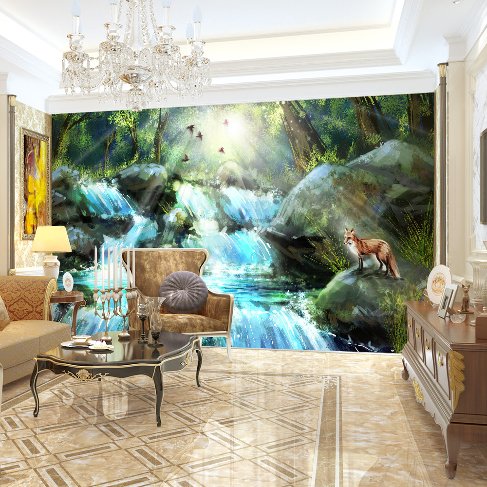 high quality modern desgin natural scenery oil painting 3d high quality modern desgin natural scenery oil painting 3d removable wall mural wallpaper self adhesive living room foto murales in wallpapers from home