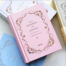 Cuaderno de respuestas diario en blanco, cuadernos de papel de trabajo o estudio, diario de bolsillo, papelería, regalo