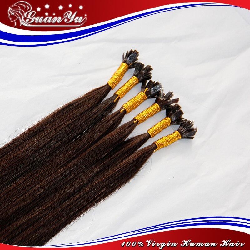 9A Peruvian Virgin Remy Fusion Hair Extensions, Keratin Flat Tip Hair Extensions 1.0 Gram Peruvian Fusion Human Hair