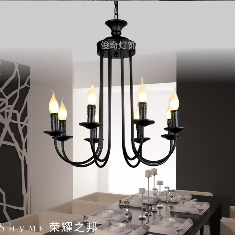 Multiple Chandelier iron chandelier lighting factory direct bedroom living room candle light