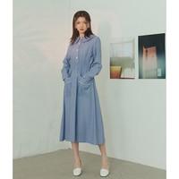 Autumn Winter Long Shirt Dress Women 2018 Doll Collar Long Sleeve Blue black Color Vintage Pocket Dress Vestidos