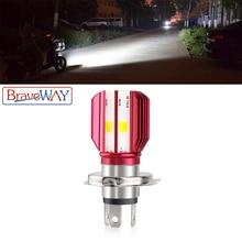 BraveWay 1PCS Motorcycle H4 LED Headlight Bulb Scooter Lamp 12V for Motorbike ATV Moto Bike