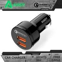 AUKEY 범용 자동차 충전기 퀄컴 급속 충전 3.0 2 포트