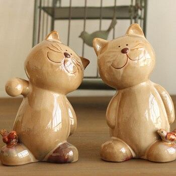 European pastoral village Home Furnishing decoration ceramic ornaments Alaska wedding gift for cat