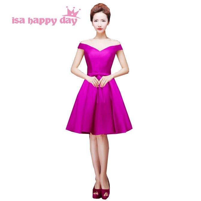 Red Black Formal Dinner Dress Short Lace Up Back Purple Special