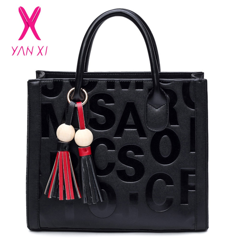 YANXI New Factory Outlets Leather Female Retro Lady PU Handbags Messenger Shoulder  Totes Luxury Handbags Women 7443e43999a29