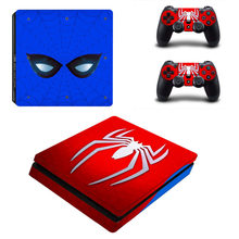 Spiderman Spider Man PS4 Slim Skin Sticker Decal for Sony PlayStation 4 Console and 2 Controller PS4 Slim Skins Sticker Vinyl(China)
