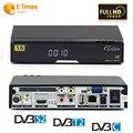 Receptor de Satélite HD DVB-S2 + DVB-T2/DVB-C TV Tuner Combo V8 de Oro Soporte CCcamd NEWcam Youtube iptv DLNA superior el envío libre de caja