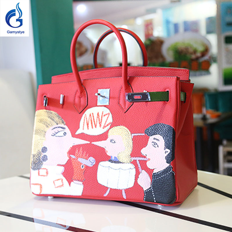 mum gift Graffiti Custom bags handbags Hand Painted totes Female blose women painting leather bag Cartoon doodle family bags rock skull graffiti custom bags handbags women luxury bags hand painted painting graffiti totes female blose women leather bags