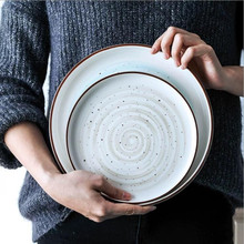 1pcs 8/10 inch French tableware ceramic Dinner Plate dish porcelain dessert plate dinnerware cake plate fruit salad pizza dish 1pcs 3000ml flat bottom with spout porcelain evaporating dish free shipping