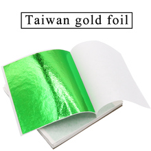 100pcs 8x8.5cm Taiwan alloy colorful gold leaf Green and environment-friendly building materials Bright color non-toxic все цены