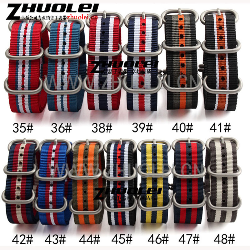 stripe nylon waterproof watchband 18mm 20mm 22mm 24mm High Quality Nato Strap Nylon Divers Brushed 5 rings for Zulu straps zulu nylon watchband 20mm 22mm 24mm for garmin fenix 5s 5 vivoactive hr epix forerunner 935 fr935 watch band fabric wrist strap