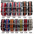 stripe nylon waterproof watchband 18mm 20mm 22mm 24mm High Quality Nato Strap Nylon Divers Brushed 5 rings for Zulu straps