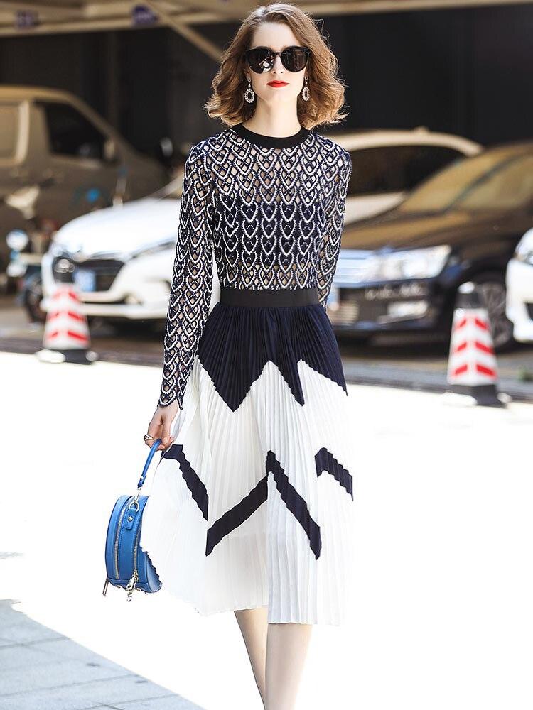 f1963908fe03e US $42.84 39% OFF YoungGee Luxury Runway Dress 2019 Fashion Designer  Elegant Flower Embroidery Slim Women Vintage Sweetheart Crochet Midi  Dresses -in ...