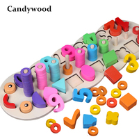 Montessori Children Preschool Educational Toys Caterpillar Counting Board Wooden Math Toy Kids Learning Educational Toys