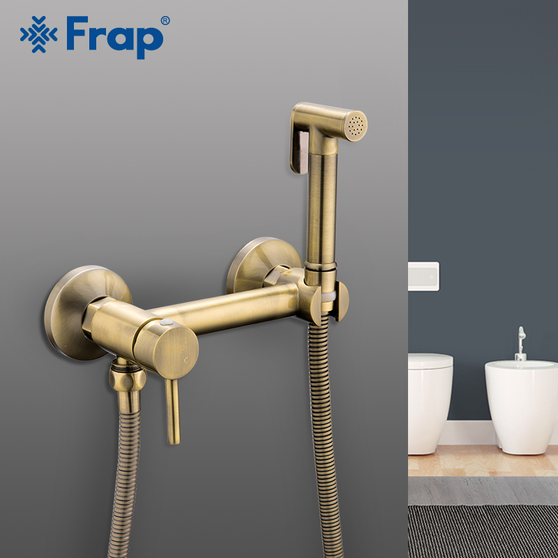 FRAP rubinetti Bidet doccia spruzzatore aerografo rubinetto calda e fredda mixer a spruzzo toilette kit bidet spray doccia bronzo della lavata di testa igienico