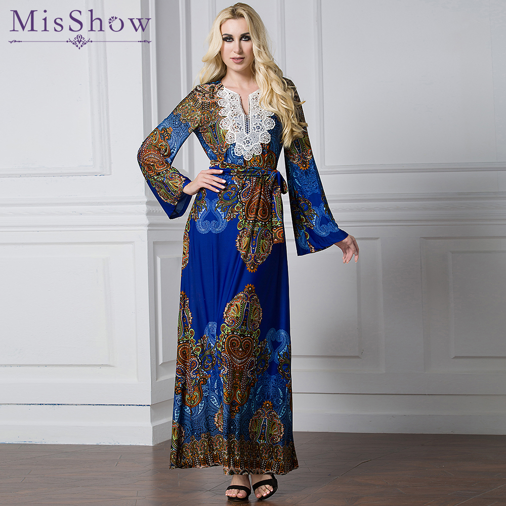 Plus Size L 7Xl Islamic Abaya Dresses Women Arab Bohemia -2827