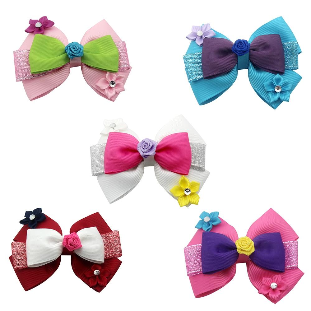 3 Inch Boutique Cute Baby Girl Hair Clips Hair Bows Flower Hair Bands Bow Hair Hair Accessories