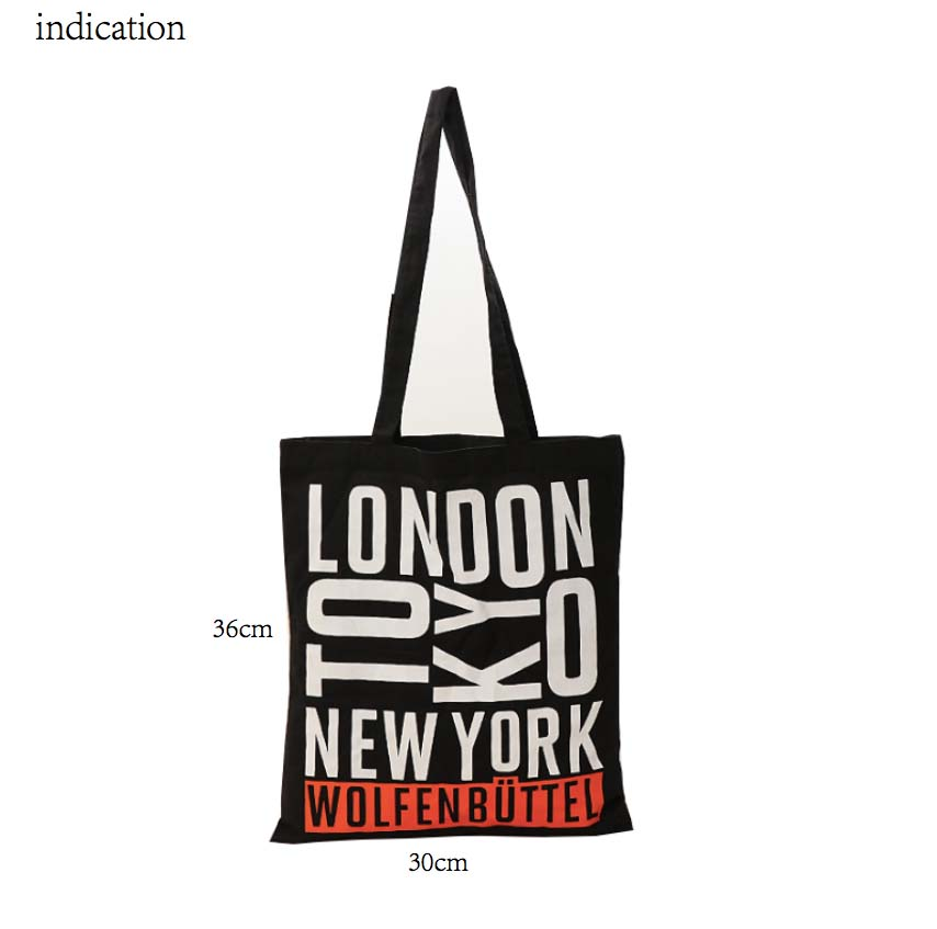 100Pcs Black No Zipper 10A Canvas Cotton Tote Bag Customized Logo Shopping Company Advertising Activity