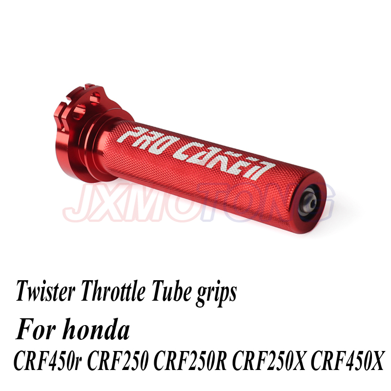 Aluminum Twister Throttle Tube With Bearing For Honda Crf450r Crf450rx Crf250 CRF250R CRF250X CRF450X Pit Bike Parts Motorcycle