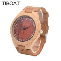 TIBOAT Wood Watches Men S Unique 100 Nature Wooden Bamboo Handmade Quartz Wrist Watch Male Sport