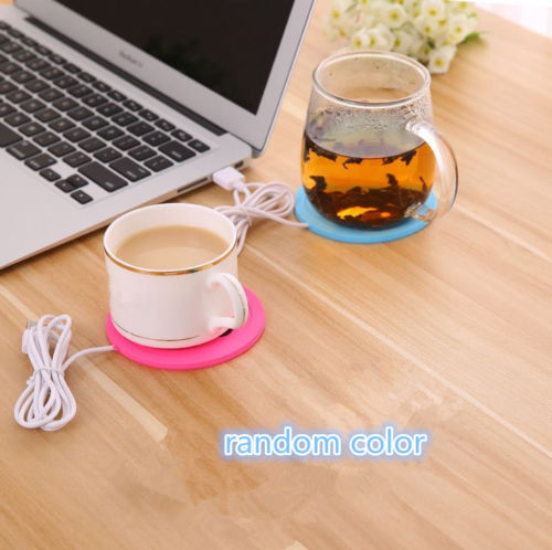 5V USB Silicone Heat Warmer Heater Tea Coffee Mug Hot Drinks Beverage Cup fRSQE