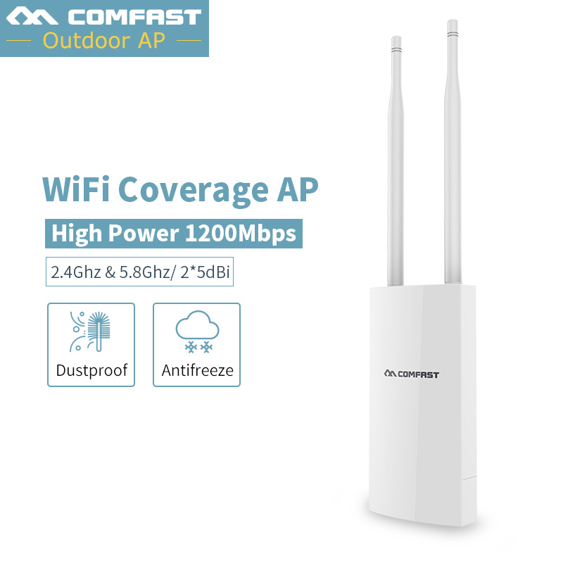 все цены на Long Range cover Outdoor CPE WIFI 300Mbps Wireless AP dual band 2.4GHz 5G Access Point 2*5 dBi Antenna WIFI Extender WIFI Router