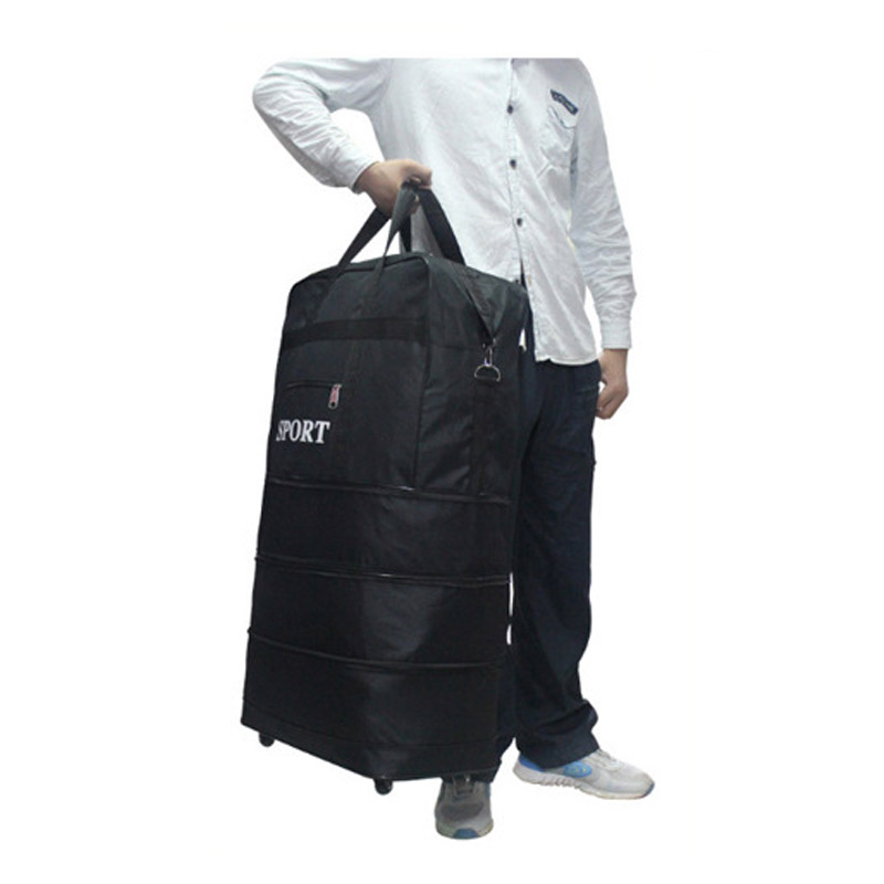 Oxford Large Capacity Luggage Travel Bags Folding Bag Men Women Casual Trolley Bag Big Tote Bag Handbag