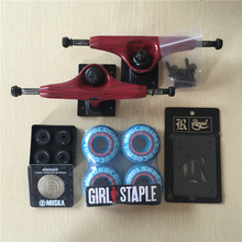 2016 Free Shipping Skateboard Parts Original Element Aluminum 5.25″ Skate Trucks Girl PU Skate Wheels ELEMENT ABEC-7 Bearings