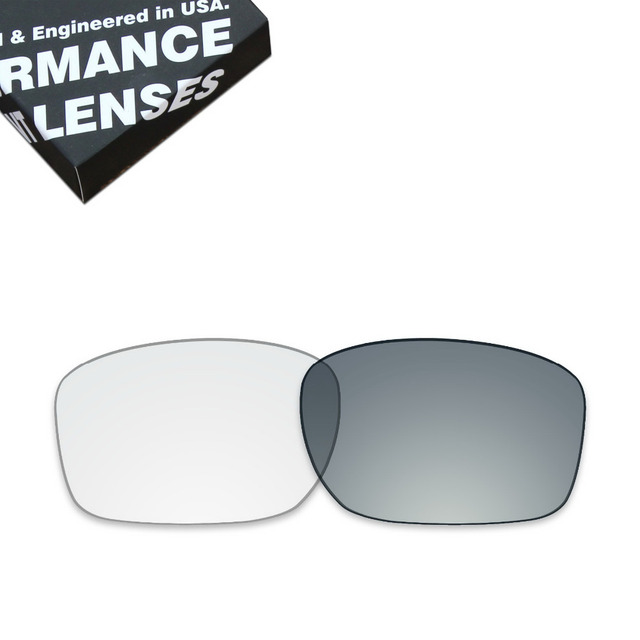 73164ad113 ToughAsNails Replacement Lenses for Oakley Sliver Sunglasses Photochromic  Clear Grey (Lens Only)