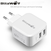 BlitzWolf Dual USB Charger Travel Wall Charger Fast