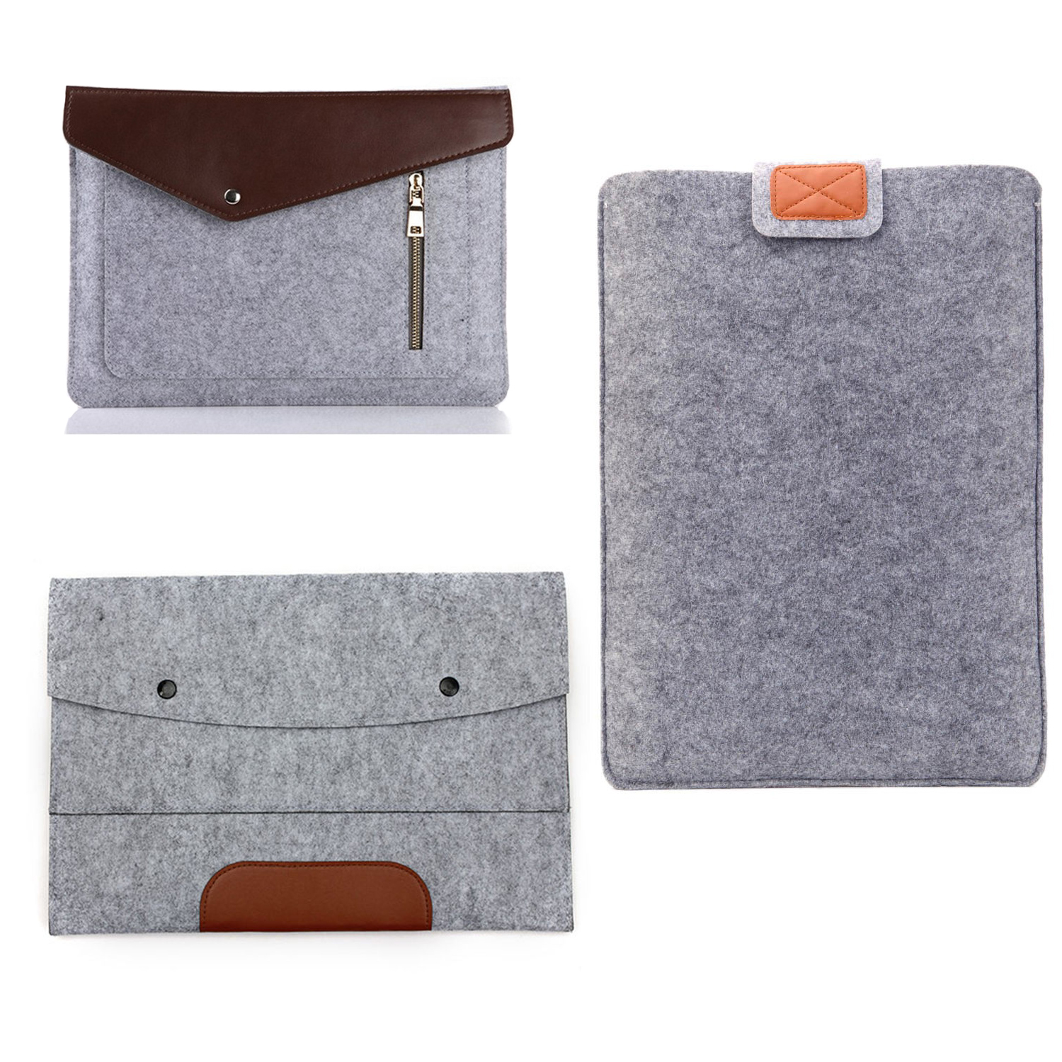 2017 Viviration 15.4 15 15.6 Laptop Sleeve Bag Felt Bags Cover Portable Cases Pouch Protector For Macbook Pro 15.4 Notebook