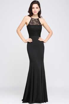 In Stock Fast ship Elegant Halter Long Evening Dress Party Women Lace Mermaid Evening Gown Formal Dresses Robe de Soiree Longue