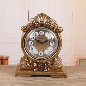 New Meijswxj Desk Clock Saat Reloj Bracket Bedside Clock Mute Roses Table Clocks Relogio Reveil Masa saati Relogio de mesa Watch