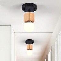 NEW Wooden ceiling lamp room entrance hallway personality study bedroom modern minimalist Scandinavian MZ122