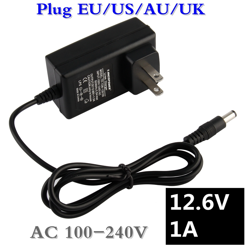 12.6V 1A 18650 Lithium Battery Charger 12V 1A Screwdriver Portable Wall Charger DC 5.5 * 2.1 MM + Free shipping 16 8v 1a lithium li ion battery charger for screwdriver 14 4v 4series 18650 lithium battery wall charger dc 5 5mm 2 1mm