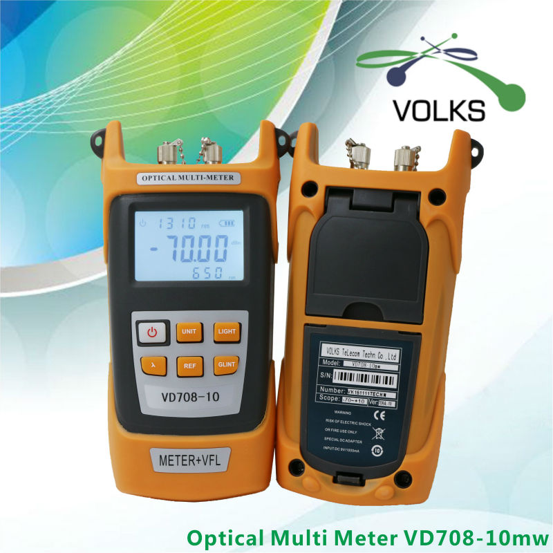 2 IN 1 Fiber Optic Power meter mit 10 km Laser quelle Visual Fault locator VD708-10mw