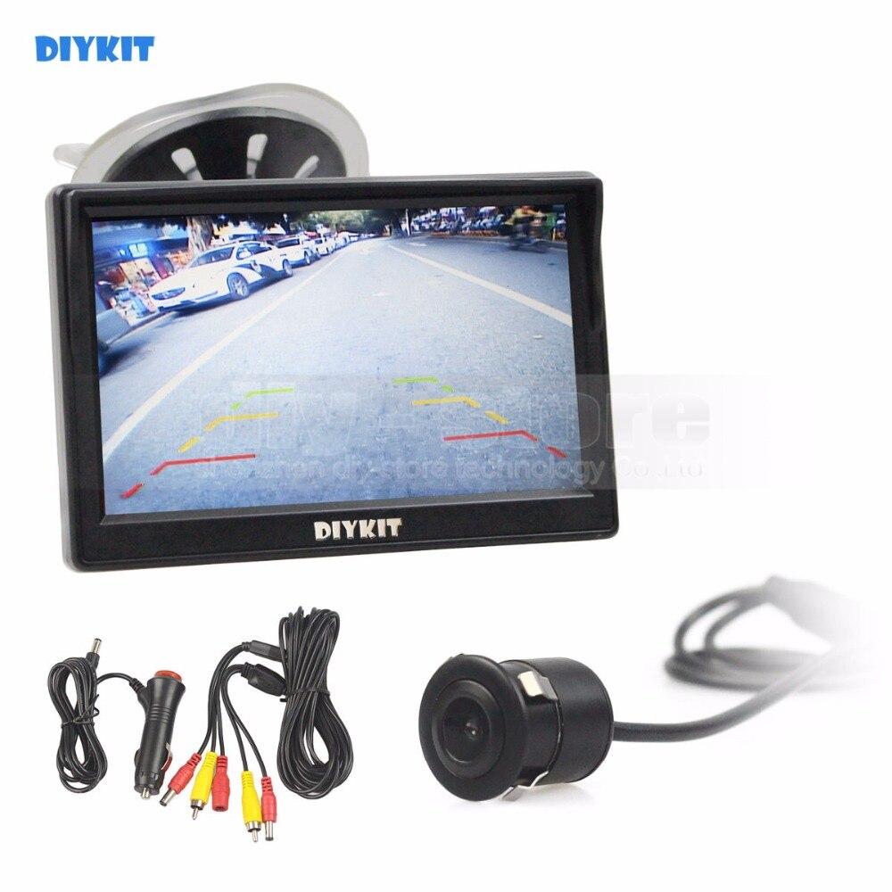 DIYKIT 5 pouces TFT LCD Moniteur De Voiture D'affichage Étanche 18.5mm HD Vue Arrière De Voiture Caméra CMOS 7070
