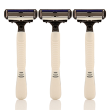 3PCS/Lot DORCO PACE 4 Travel Shaver Men Shaving Anti-slip Rubber Handle Manual Disposable Hotels Razor With Individual Package(China)
