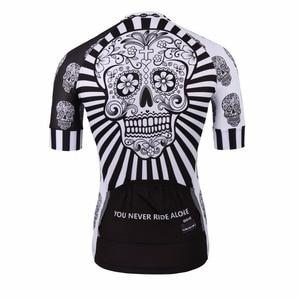 Image 2 - Bianco Del Cranio di Stampa di Sublimazione Ciclismo Jersey best 2019 Pro Poliestere Bike Wear Uomini di Estate Quick Dry Bicicletta Top Bicicletta Camicia