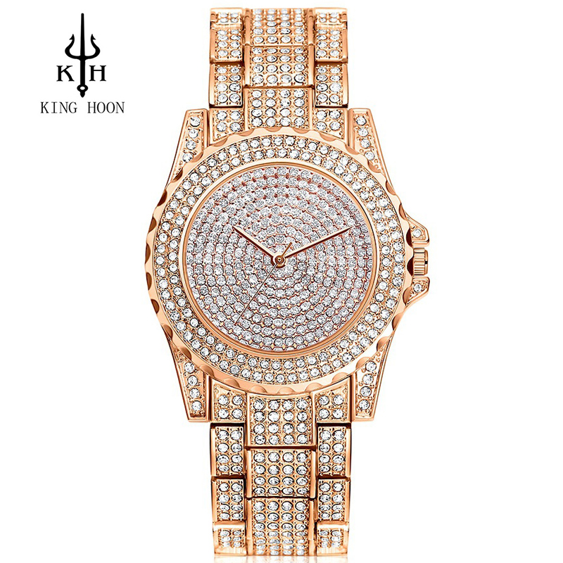 KING HOON 2017 Fashion Quartz Watch Women Watches Ladies Girls Famous Brand Wrist Watch Female Clock Montre Femme Relogio Femini kinyued fashion quartz watch women watches ladies girls famous brand wrist watch female clock montre femme relogio j016s 1
