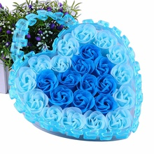 24Pcs Heart Scented Bath Body Petal Rose Flower Soap Wedding Decoration Gift Flavor Paper Fancy
